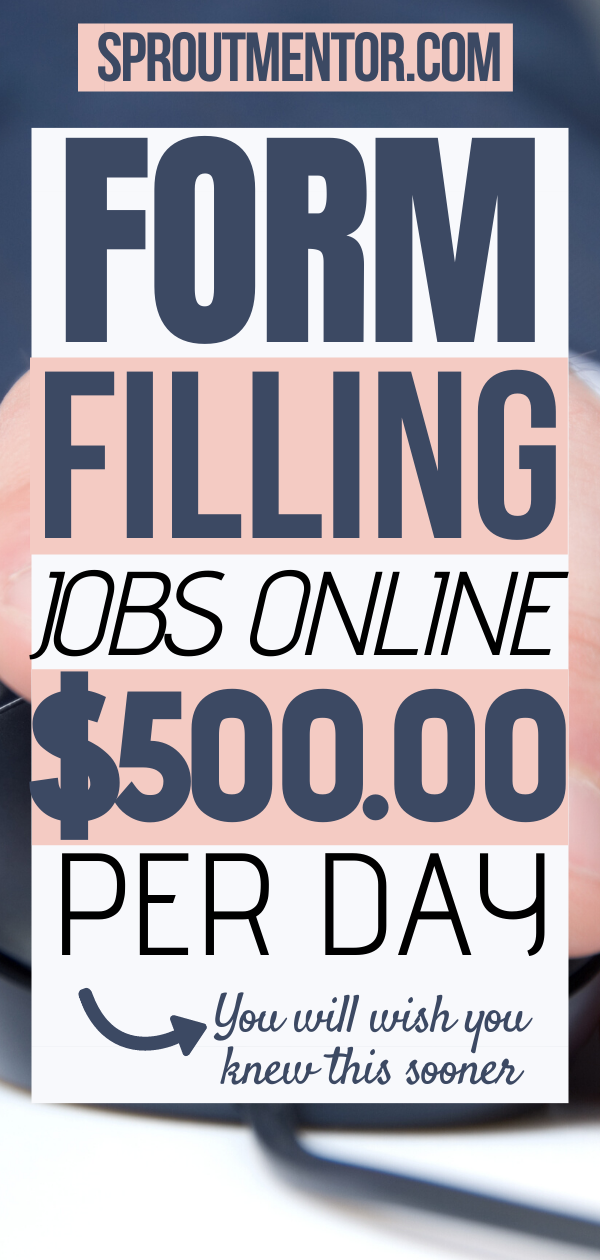 Trusted Form Filling Jobs Online Form Filling Jobs Without Investment Daily Payment Sproutmentor In 2020 Online Jobs From Home Legit Work From Home How To Get Money