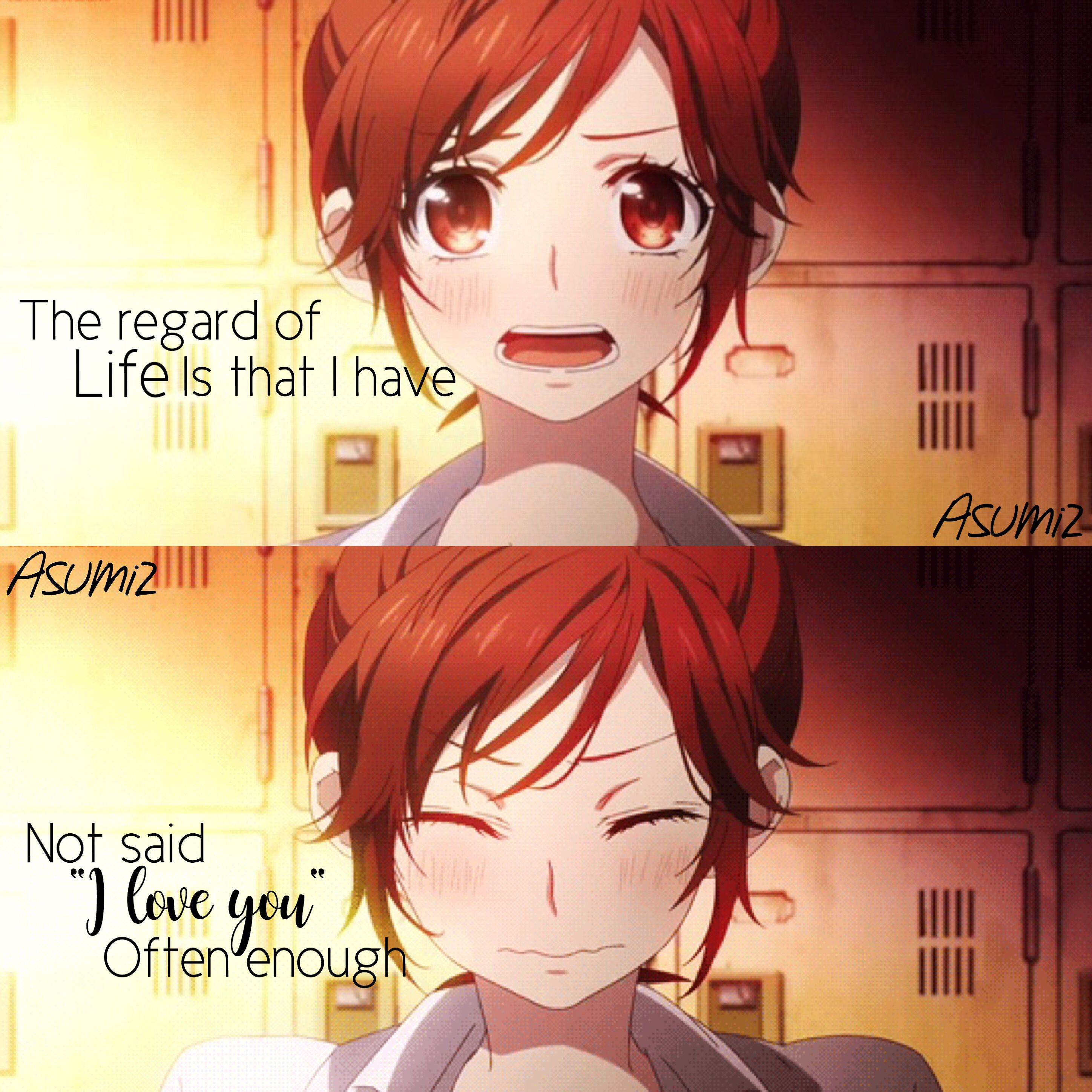 asumi.z quote by 柠檬茶༻ Anime love quotes, Anime quotes