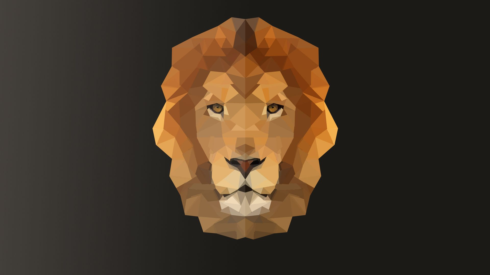 Low poly Lion - (first attempt at low poly)