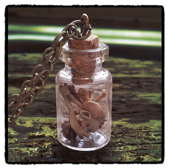 Hey, I found this really awesome Etsy listing at https://www.etsy.com/listing/178797905/bone-bottle-necklace-boneyard-necklace