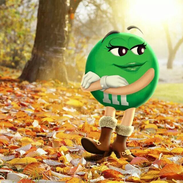 Ms. Green love fall , she gets to wear a new boots .