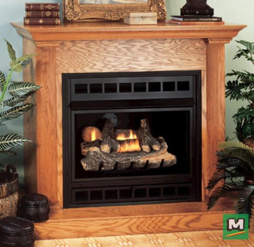 Stay Warm Beside This Ihp 32 Remote Control Propane Gas Fireplace Insert With Just A Click Of The Ther Natural Gas Fireplace Fireplace Gas Fireplace Insert