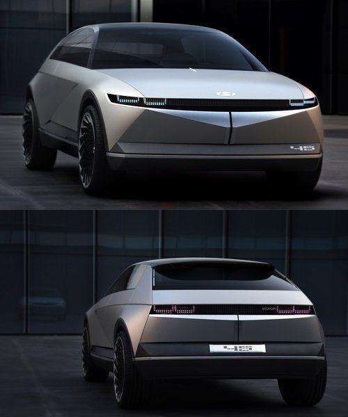 Photo of hyundai unveils retro-futuristic 45 EV concept with sharp angular lines