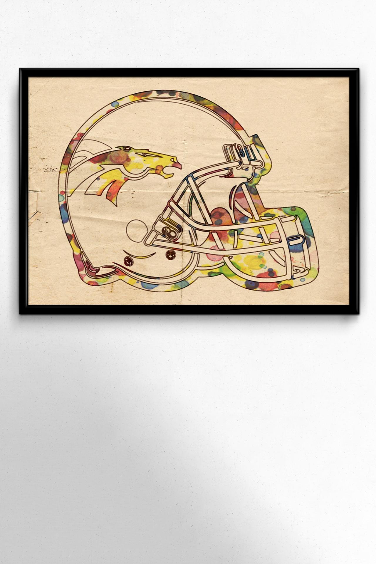 Denver Broncos Poster Art in 2020 Poster art, Art, Poster