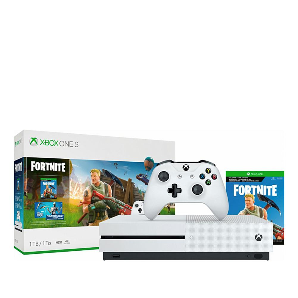Xbox One S 1tb Console With Fortnite Game Xbox One S Xbox One S 1tb Xbox
