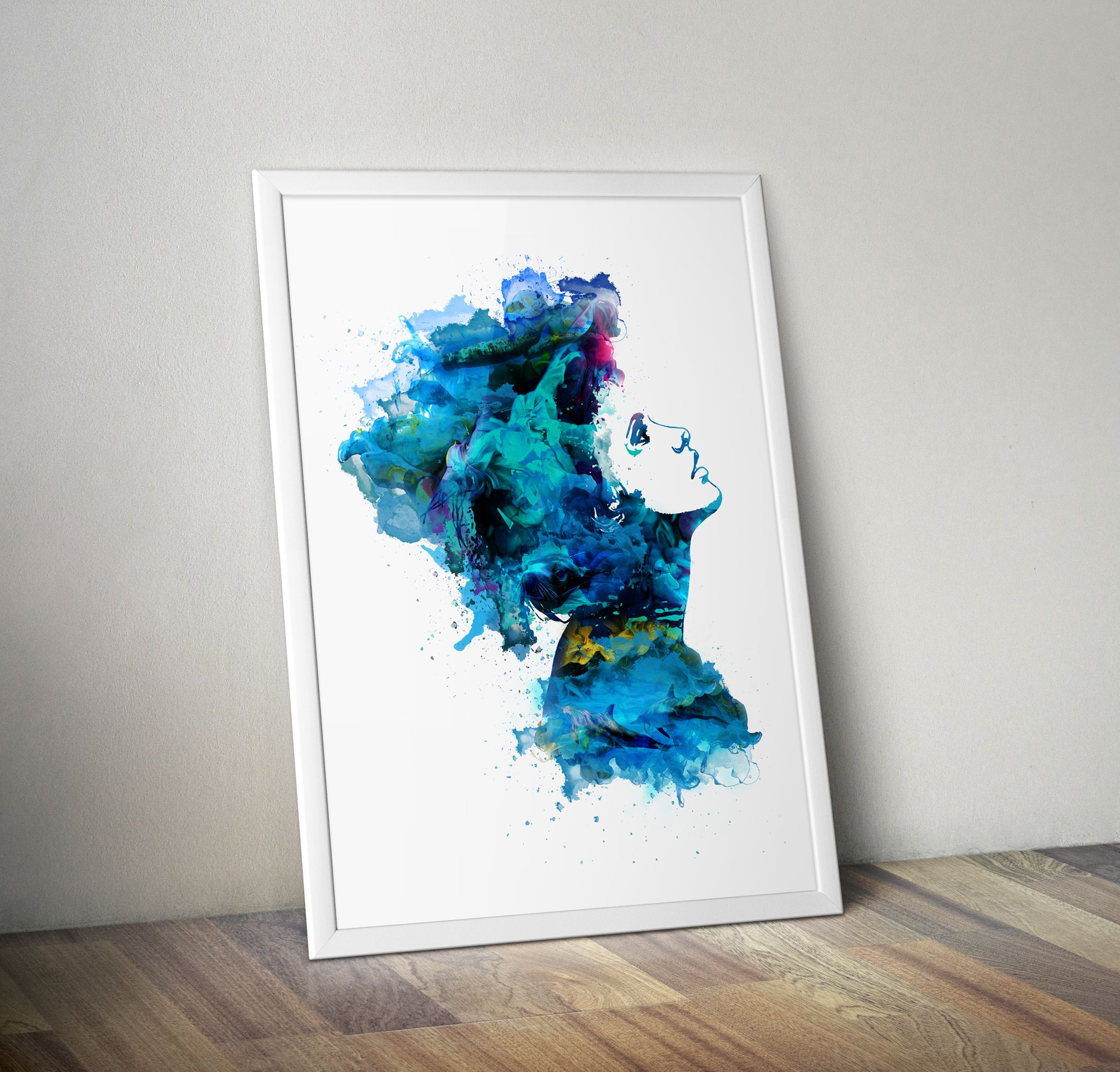 Dimitri wiles 60nz the swimmer a3 giclee print on