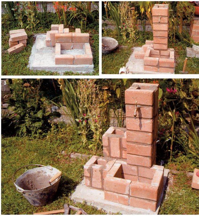 Fontana fai da te con autobloccanti bricoportale fai da - Fontane da giardino ebay ...