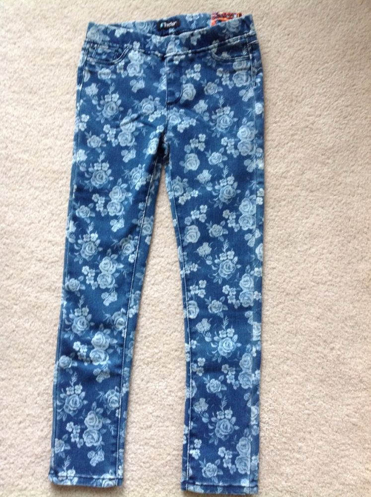 Girls Tractor Jeggings Stretch Skinny Jeans ~ Size 6 ~ Floral Denim NWT #Tractor #SlimSkinny #DressyEveryday #girls #leggings