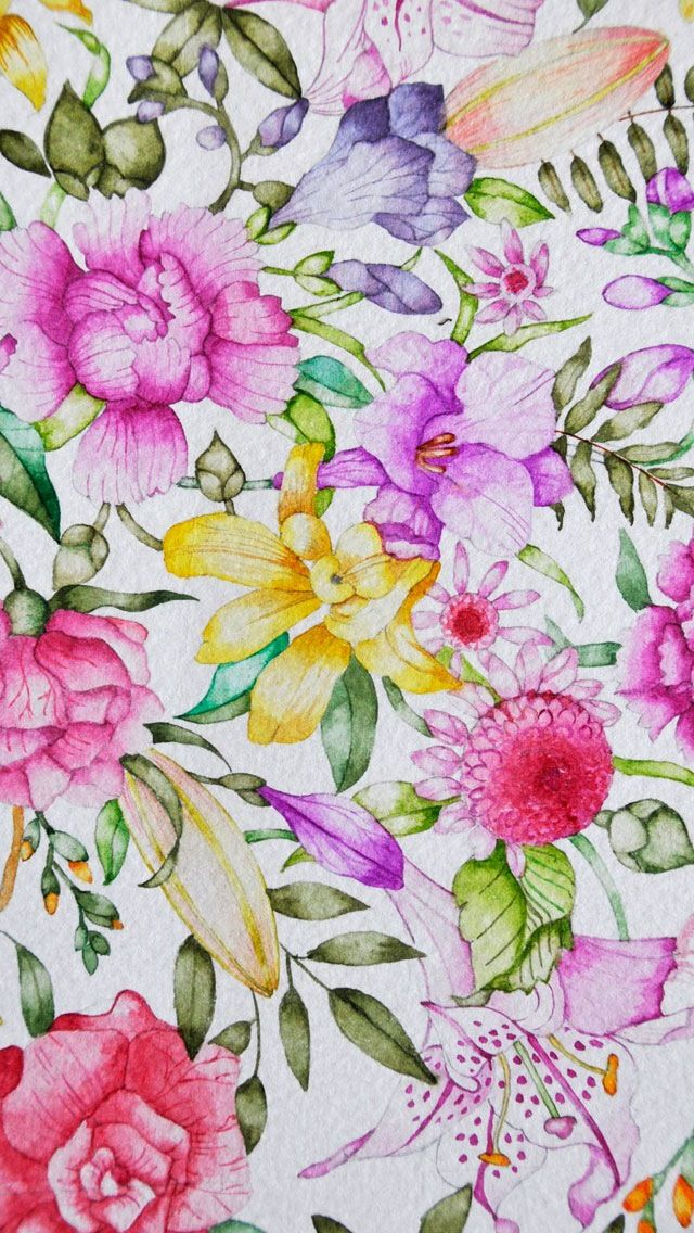 Floral Wallpaper Floral Print And Patterns Pinterest Disegno