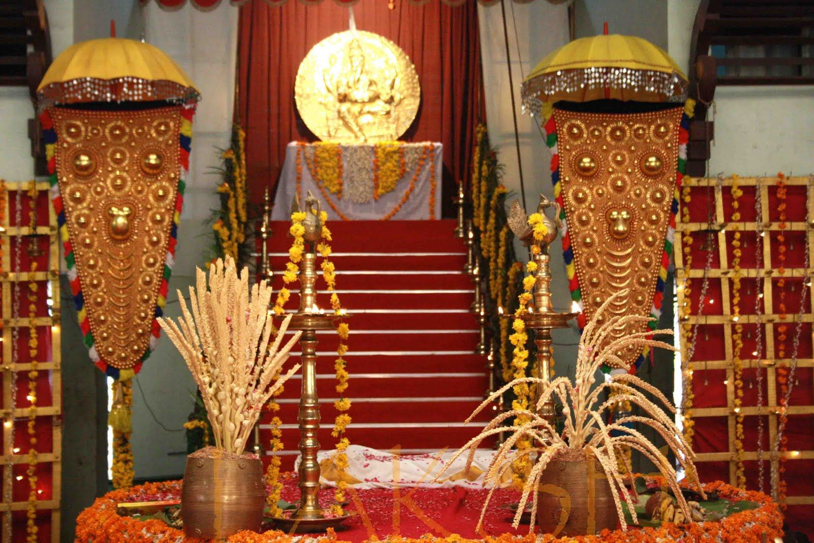 traditional decor at a malayali hindu wedding southindian - Traditional Hotel Decoration