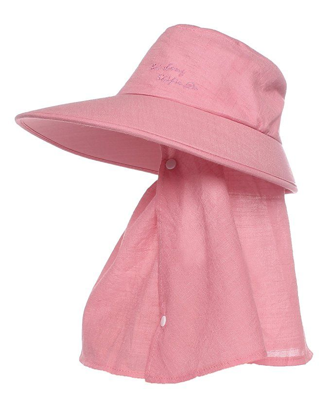 Jemis Women's Upf+50 Sunhat Bucket Hat with Neck Cover and Mask ( Rose Red) at…