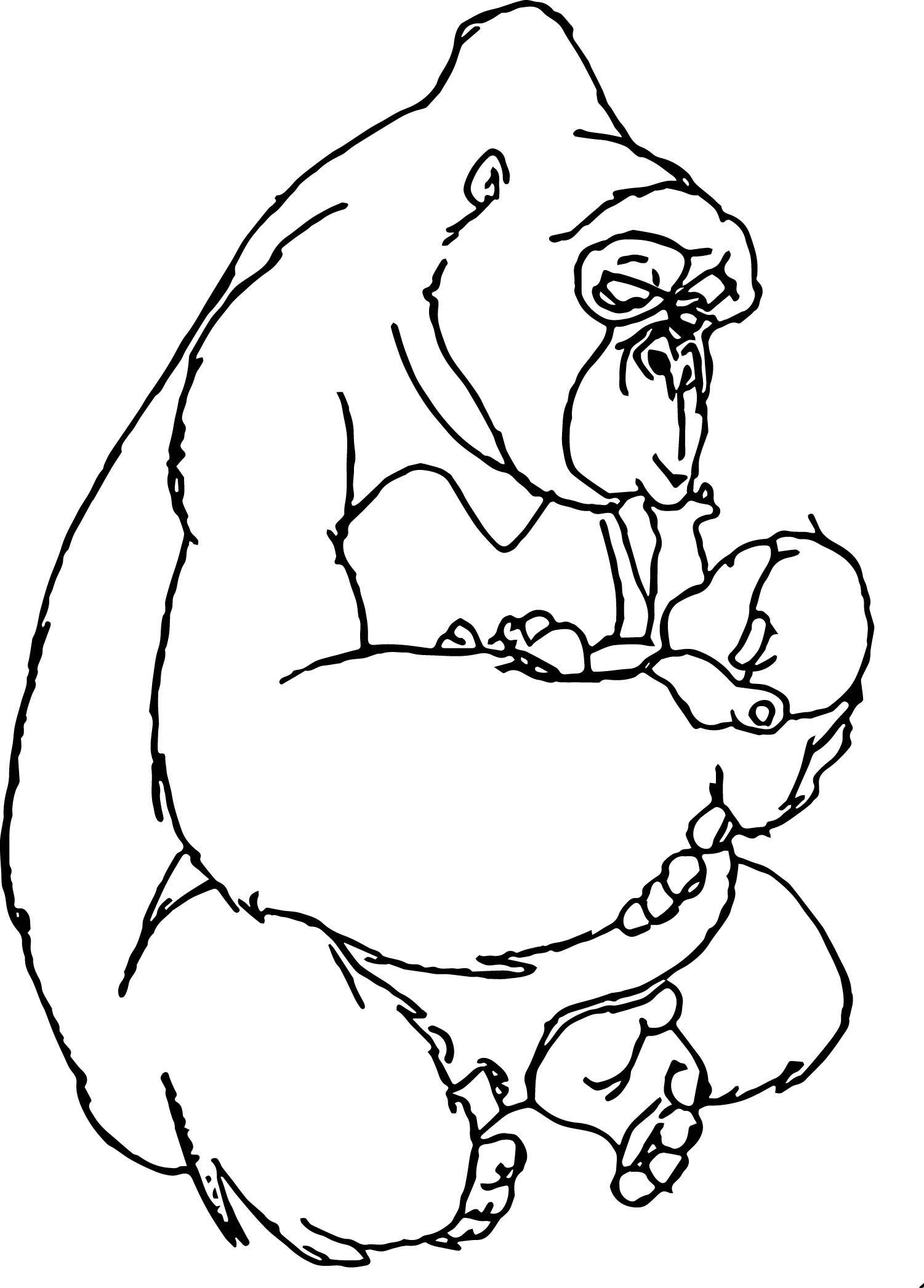 Cool Disney Baby Tarzan Look Coloring Page Baby Tarzan Baby Disney Tarzan