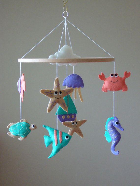 Nautical Sealife Baby Mobile