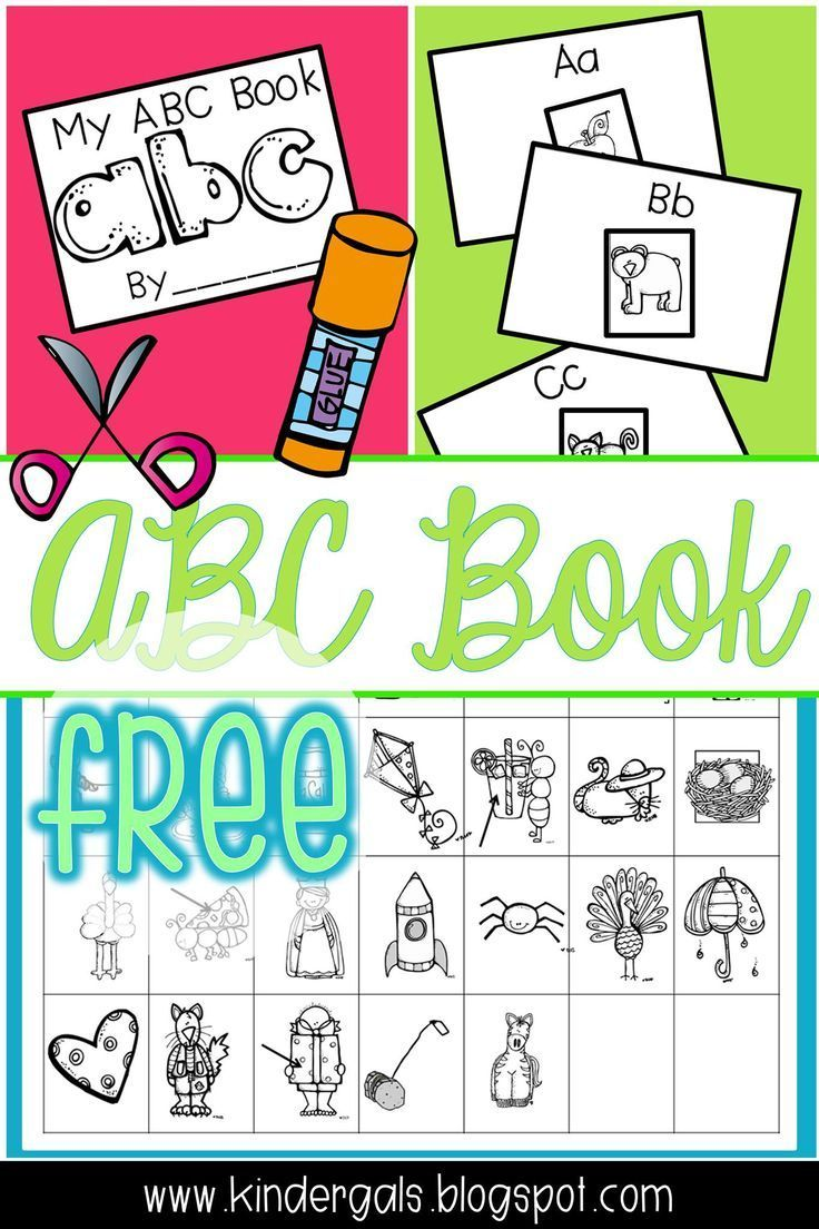 FREE ABC Book for preschool pre-k, or kindergarten. Help your young ...