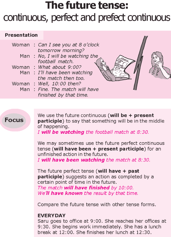 Grade 8 Grammar Lesson 15 The future tense continuous perfect – Perfect Verb Tense Worksheet