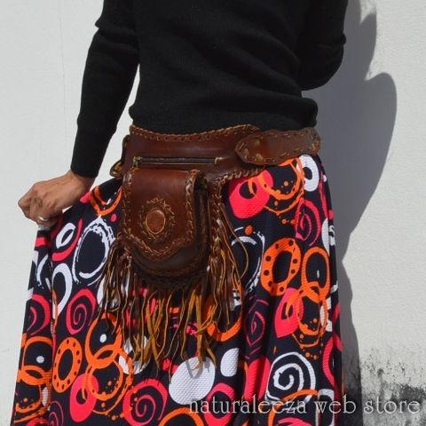 ◆◆New Arrival◆◆Leather hip bag ★naturaleeza★-遊び着いっぱい◎ヒッピー・エスニック・レイブファッション- #fashionstore #onlinestore #naturaleeza #hippiestyle