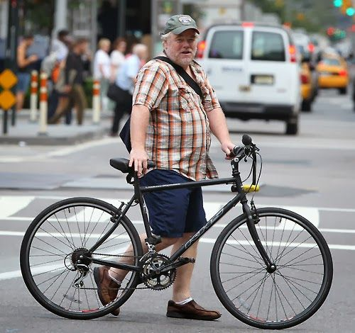 James Seymour Hoffman Looks Like A Beginner Bike Rider But Was