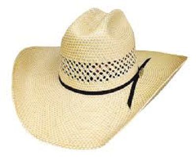 The official Justin Moore Let The Night Roll 100X Cowboy Hat is made of  premium Shantung Panama natural colored wheat straw. This hat features a 4  1 4