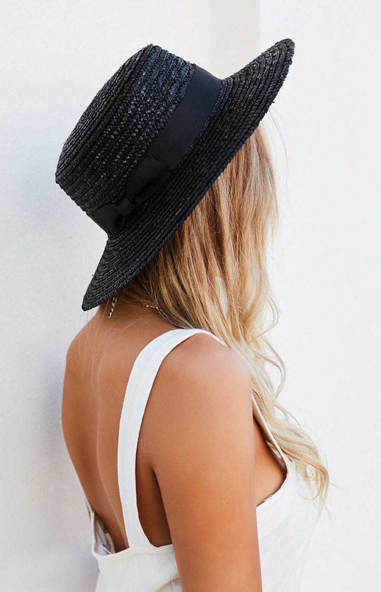 7823dc56a Lack Of Color The Spencer Noir Boater Hat Black | • NEW STYLES ...