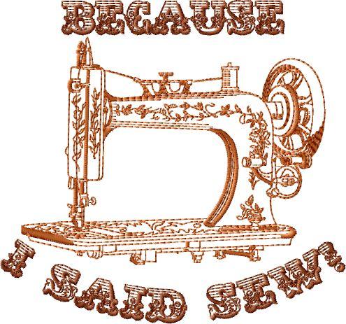 Designs Because I Said Sew Free Embroidery Design Abc Free Machine