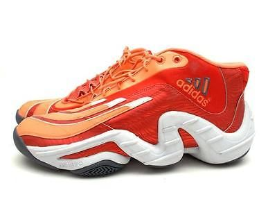1d6a3ae74f60 ADIDAS Real Deal adiPRENE Basketball Shoes Orange Red Men s Size 14 ...