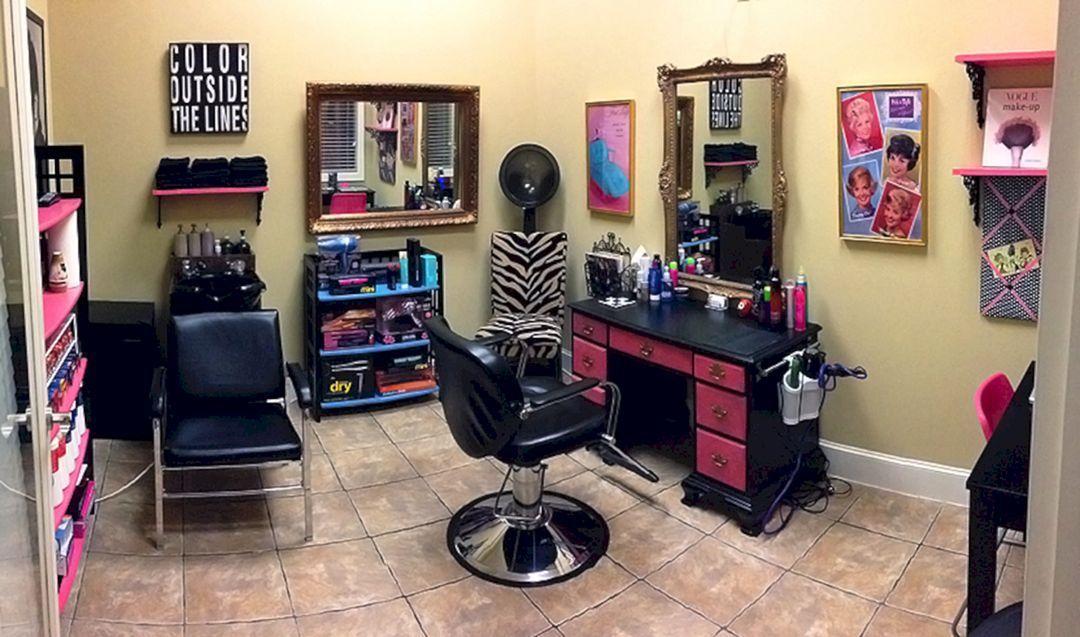 46 Best Home Salon Decor Ideas For Private Salon On Your Home Freshouz Com Home Hair Salons Salon Decor Home Salon