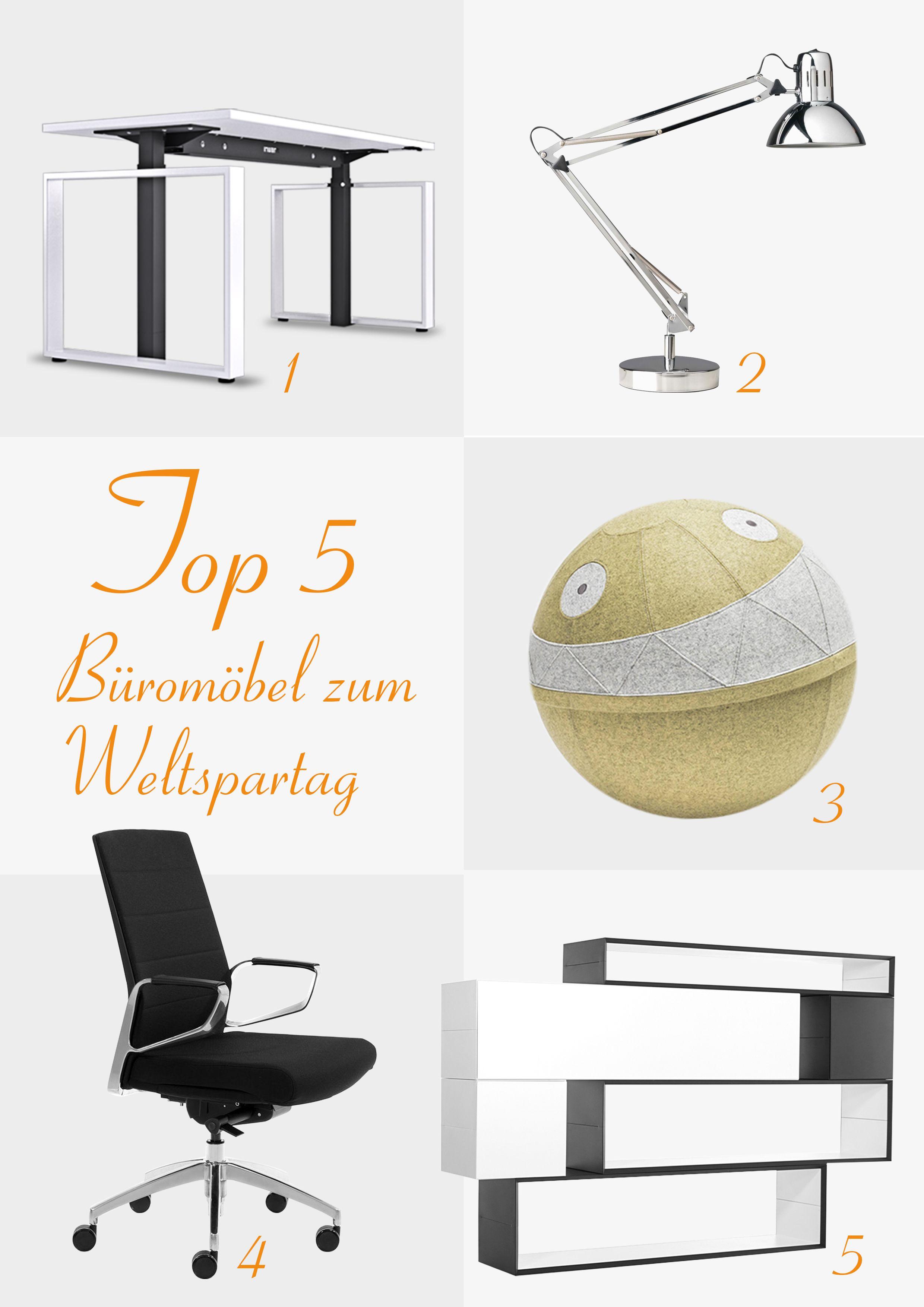 Passend zum Weltspartag die Top 5 Büromöbel, für die es sich lohnt ...