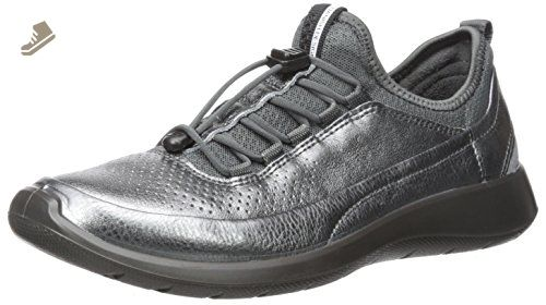 ECCO Women's Women's Soft 5 Toggle Fashion Sneaker, Dark Shadow/Dark  Shadow, 10