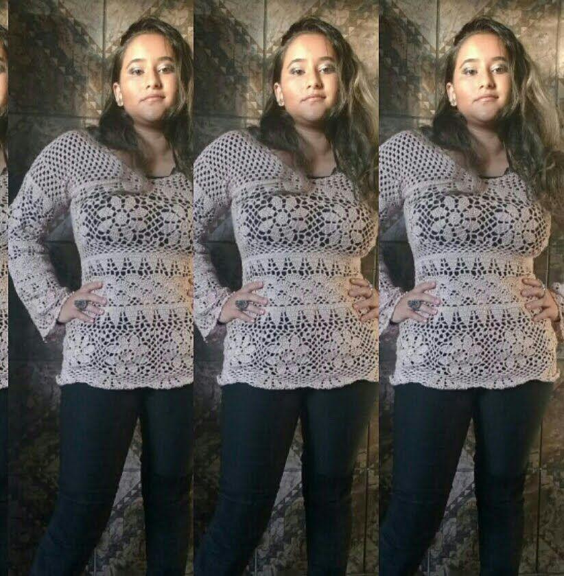 Receita Plus Size Casaco Crochê de Grampo Blog do Bazar