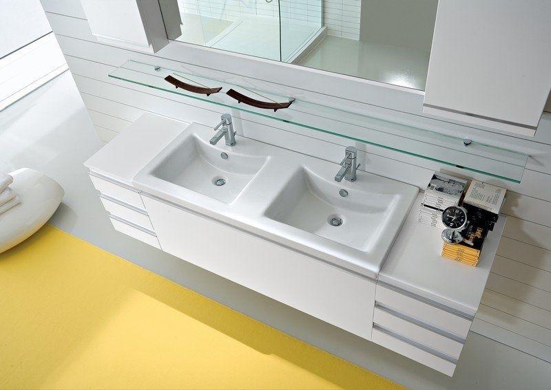 Ikea Bagno ~ Bagno con piano in legno e doppio lavabo in corian bathrooms