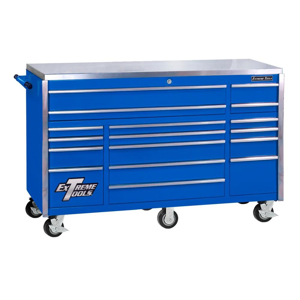 Extreme Tools 72 In 17 Drawer Professional Roller Cabinet With