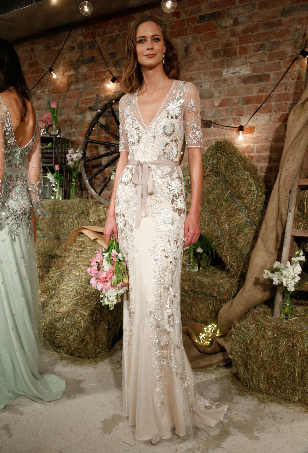 Metallic wedding dress  Jenny Packham Bridal Spring   Jenny packham bridal Jenny