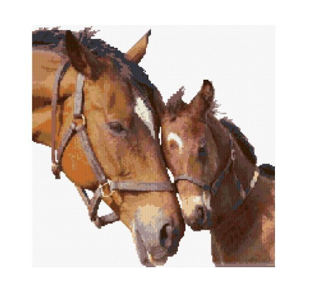 Horse With Foal 1/8