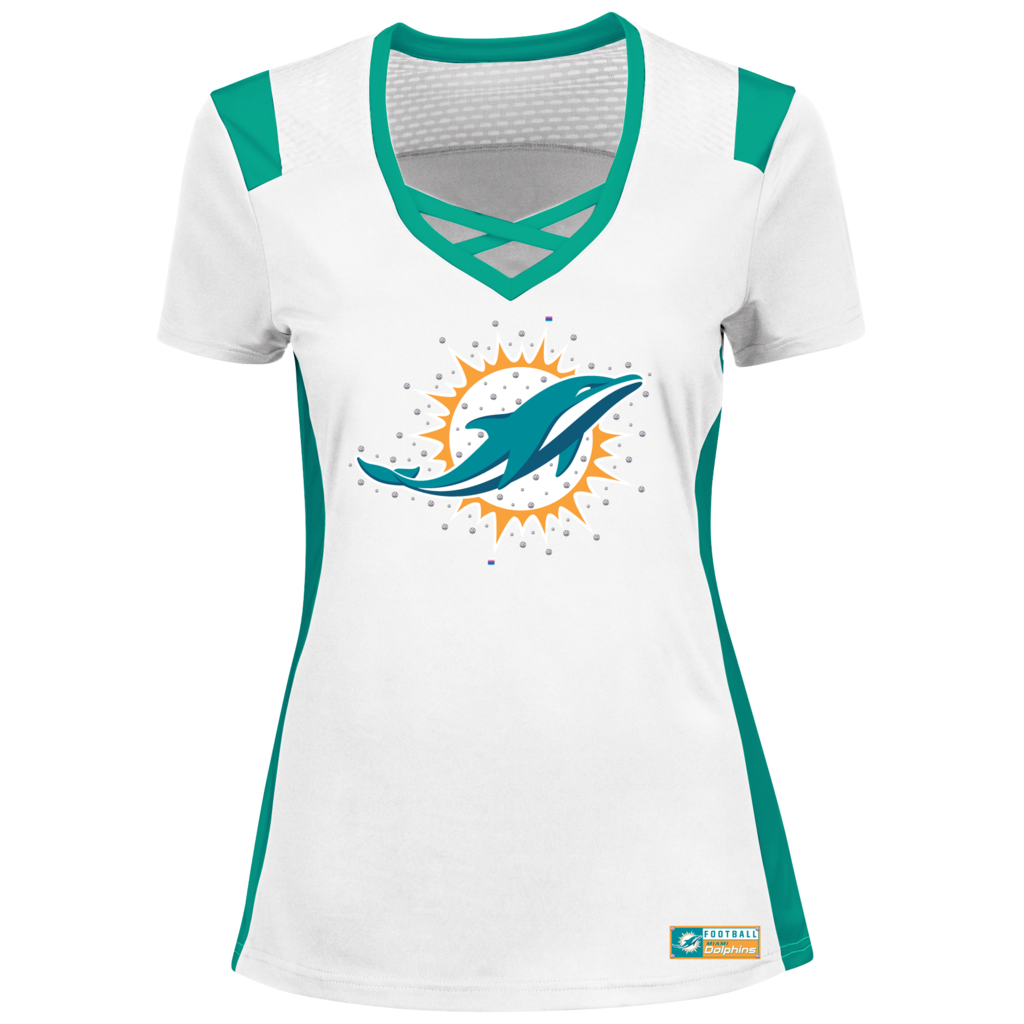 finest selection c7c2c 6c16b NFL Miami Dolphins Ladies Draft Me Shirt White   miami ...