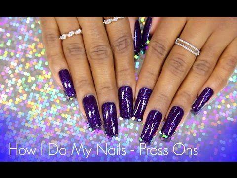 how i do my press ons  youtube  fake nails acrylic
