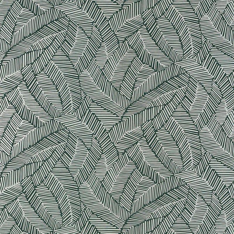 Schumacher Abstract Leaf Wallpaper In Metallic