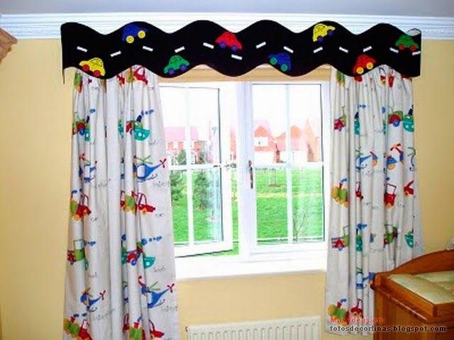 Cortinas infantiles decoracion infantil for Cortinas para dormitorios de ninos