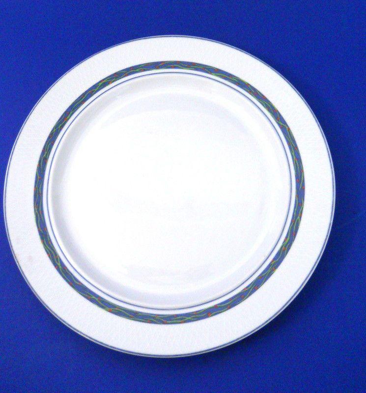 Dansk New Scandia Salad Plates Set of 4 Raised Lattice Blue Band Rimmed # Dansk  sc 1 st  Pinterest & Dansk New Scandia Salad Plates Set of 4 Raised Lattice Blue Band ...