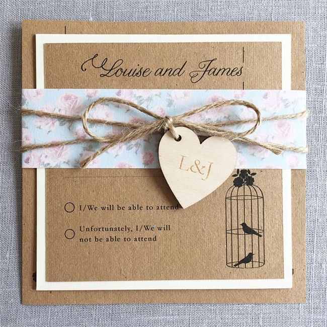 must have shabby chic wedding invitations - Vintage Style Wedding Invitations