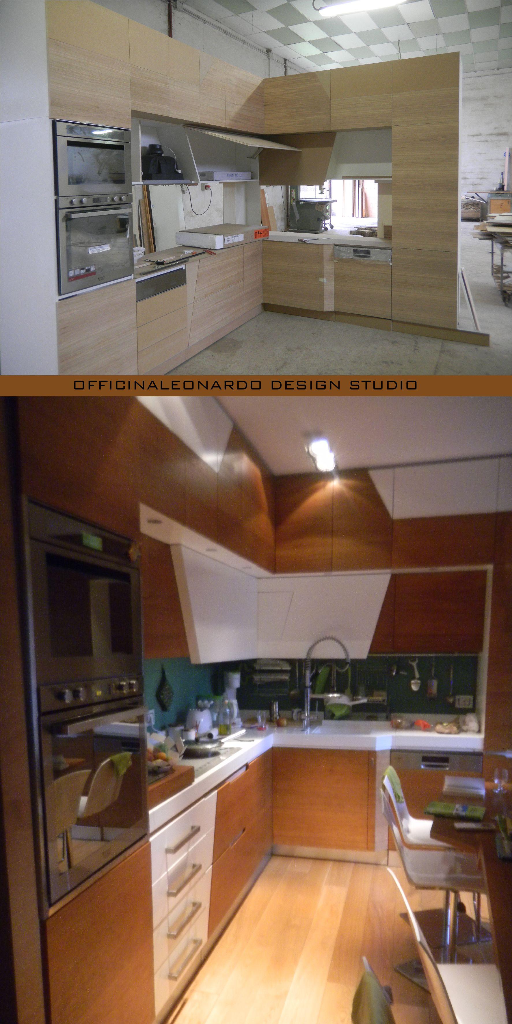 Cucina Su Misura Falegname cucina ad angolo su misura realizzata in falegnameria; i