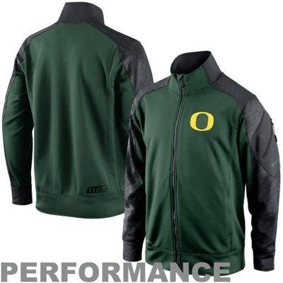 Nike Oregon Ducks Fly Speed Full Zip Performance Jacket - Green