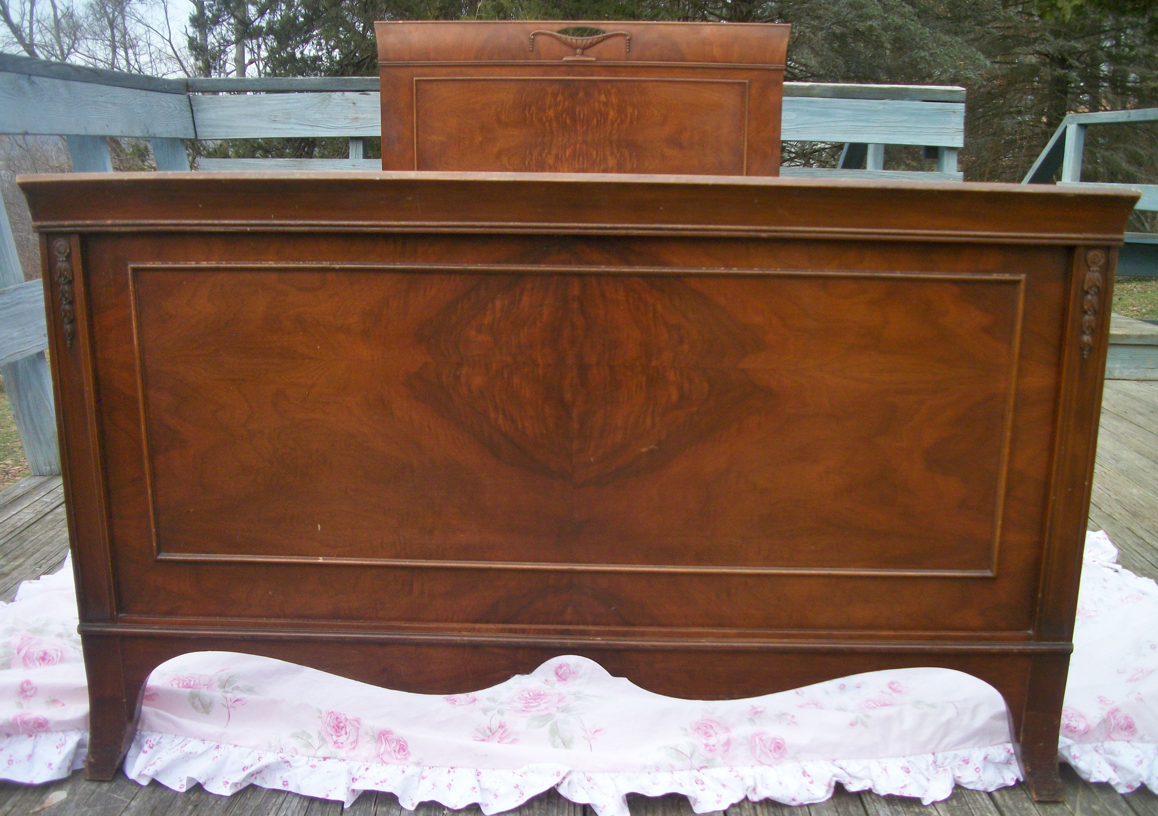 ornate bedroom furniture. gorgeous wood ornate antique bed frame head board foot \u0026 slats. shabby french bedroom furniture