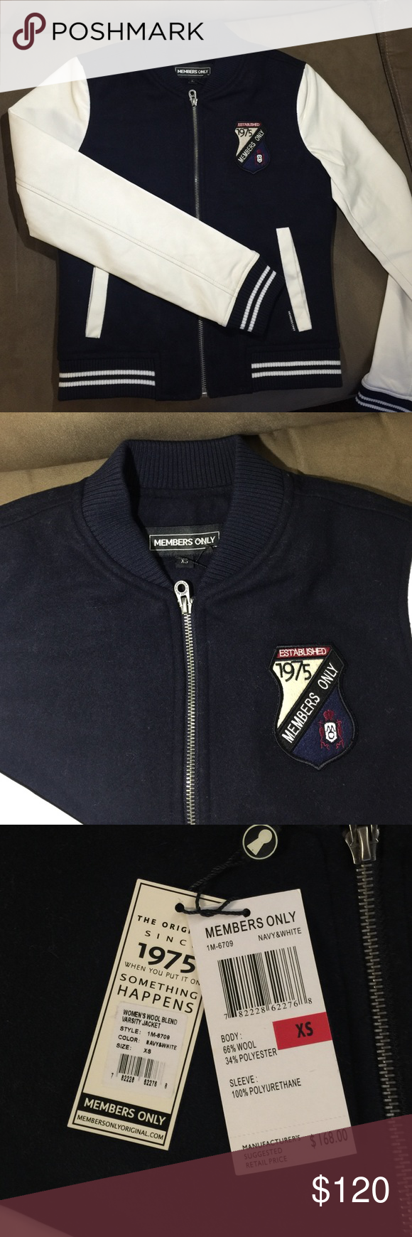 New w/tag MEMBERS ONLY old school jacket size XS New and authentic MEMBERS ONLY oldschool jacket size XS.  Very cute!!! Members Only Jackets & Coats