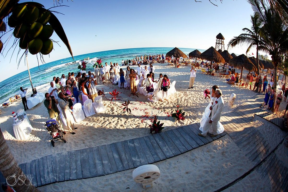 Anitra Amar Celebrating Their Day In A Mexico Beach Wedding At The Iberostar Paraiso Riviera Maya Del Sol Photography Was Thrilled To Capture