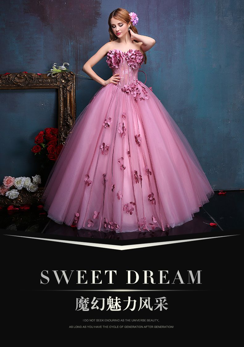 100%real flower fairy beading floral vine ball gown medieval dress ...
