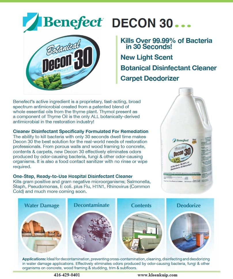 Water Damage Restoration Typical Disinfectants Require 10 Minutes