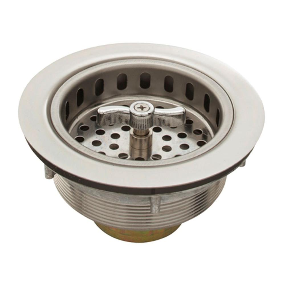 Belle Foret 3 5 In Spin Lock Sink Strainer In Stainless Steel