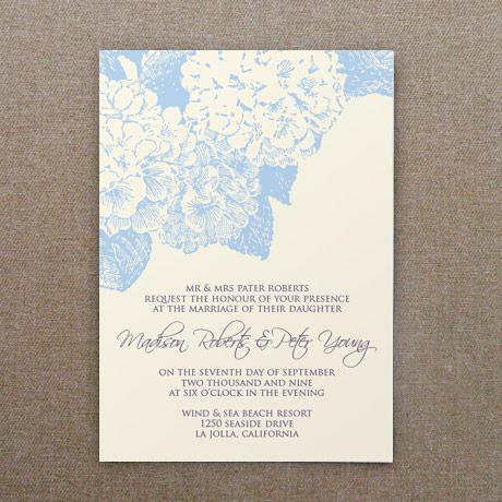 Invitation Template: Hydrangea Flower | Free wedding, Rsvp and Hydrangea