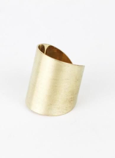 Keep your fingers cozy in this golden wrap ring.  The open style back is not only cute, but easily adjusts this ring to a range of sizes! www.mooreaseal.com