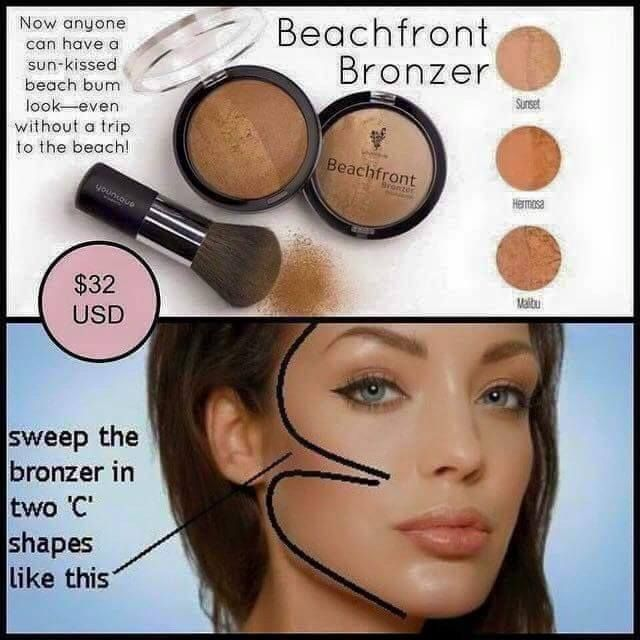 How to apply your Beachfront Bronzer: apply the desired ...